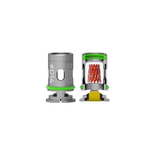 Wotofo D14 A1 Conical Mesh Heads 0,2 Ohm (5 Stück pro Packung)